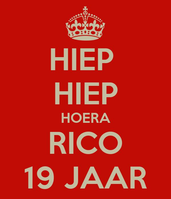 HIEP  HIEP HOERA RICO 19 JAAR