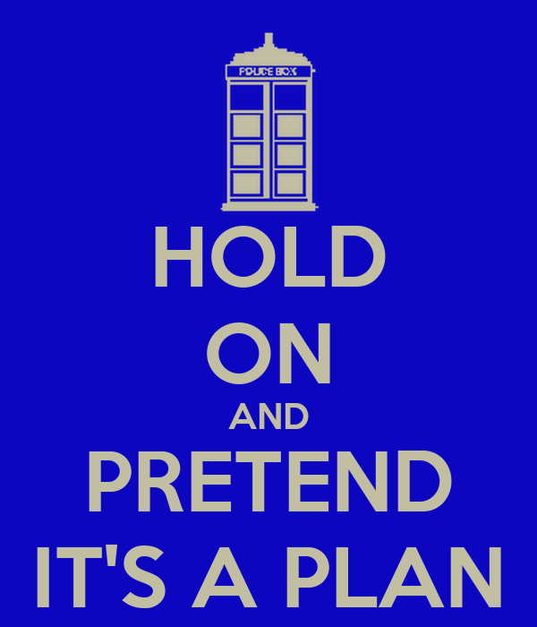 HOLD ON AND PRETEND IT'S A PLAN