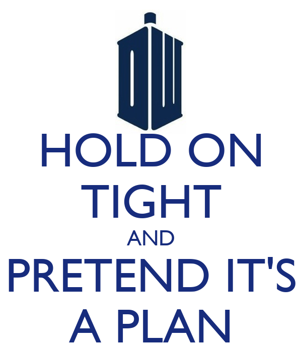 HOLD ON TIGHT AND PRETEND IT'S A PLAN