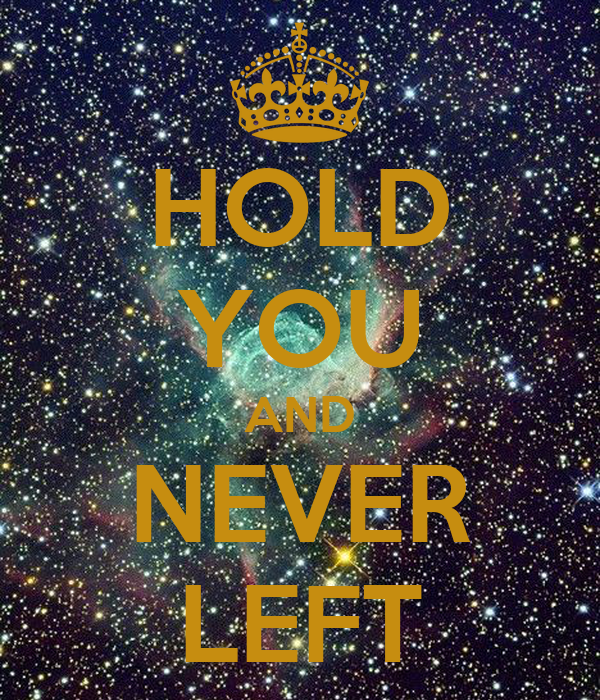 HOLD YOU AND NEVER LEFT