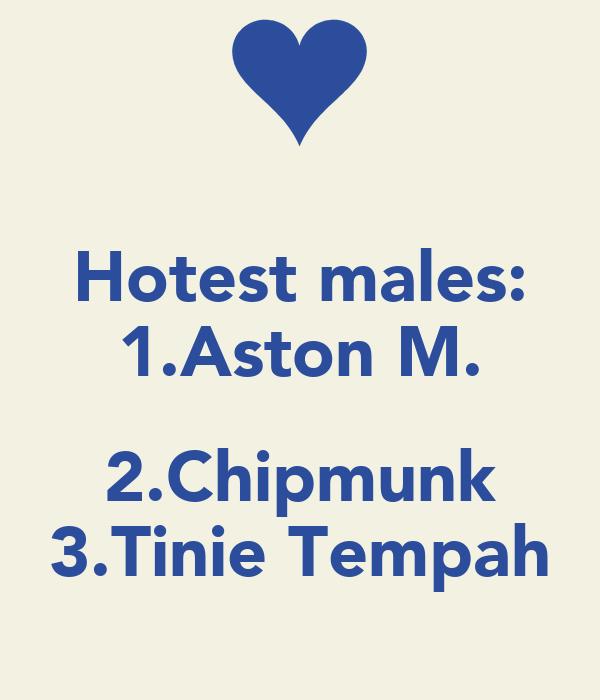 Hotest males: 1.Aston M.  2.Chipmunk 3.Tinie Tempah