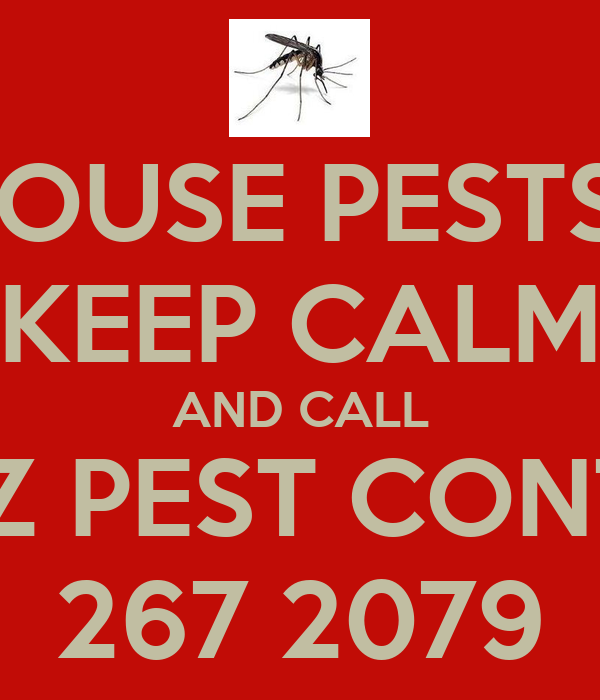 HOUSE PESTS? KEEP CALM AND CALL BOAZ PEST CONTROL 267 2079