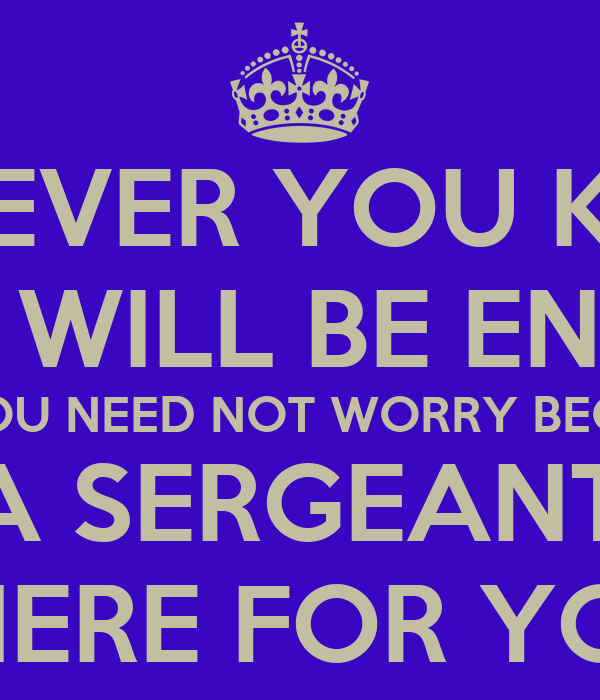 you need not worry