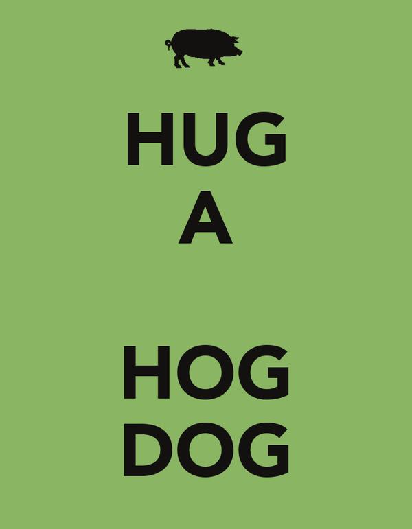 HUG A  HOG DOG