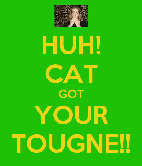HUH! CAT GOT YOUR TOUGNE!!