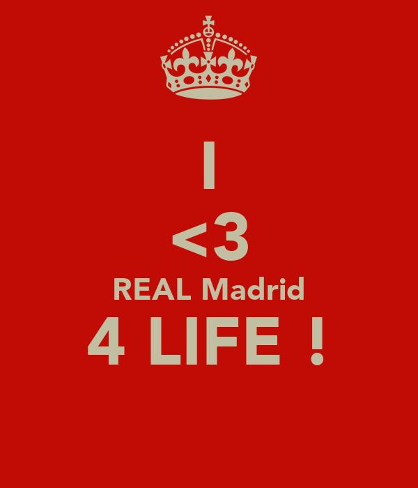 I <3 REAL Madrid 4 LIFE !