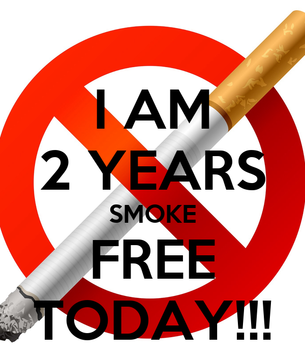 I AM 2 YEARS SMOKE FREE TODAY!!! Poster | DAVID | Keep Calm-o-Matic