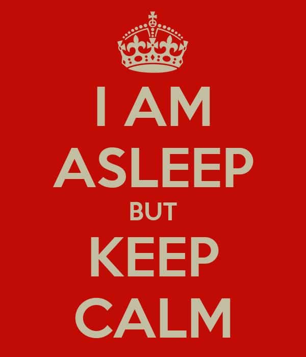 I AM ASLEEP BUT KEEP CALM