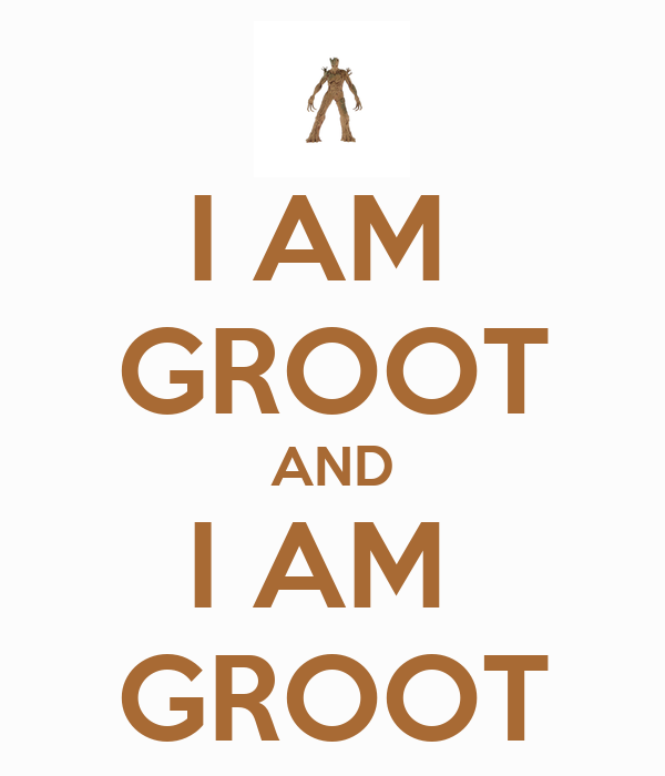 I Am Groot And I Am Groot Poster Marcjenk Keep Calm O