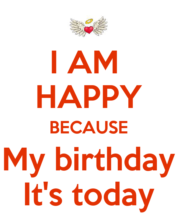 I Am Happy Because My Birthday Its Today Poster Rania Keep Calm