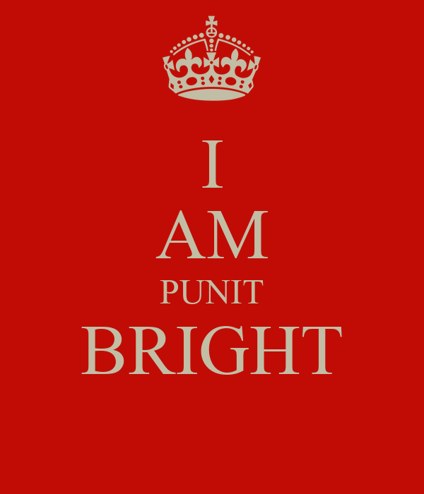 I AM PUNIT BRIGHT