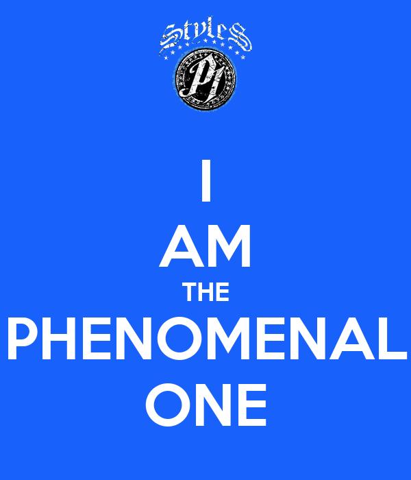 Am the phenomenal one poster juhfa keep calm o matic
