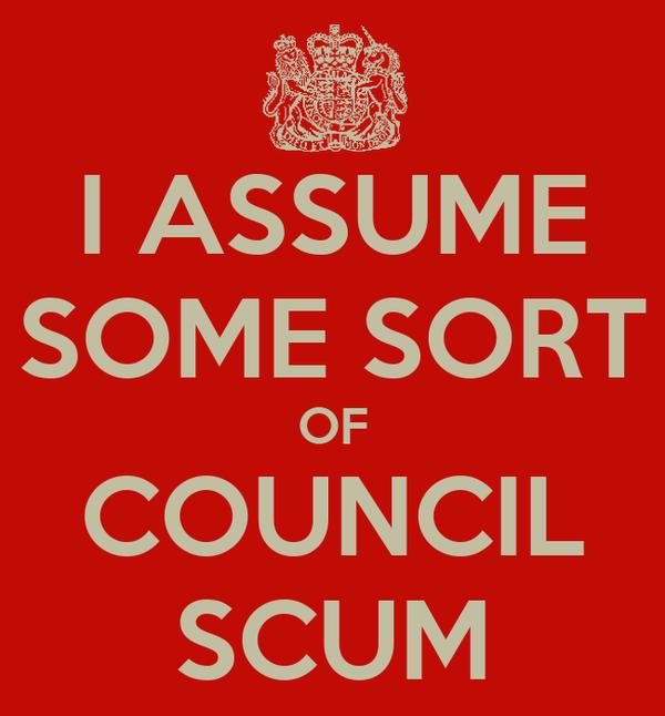 I ASSUME SOME SORT OF COUNCIL SCUM