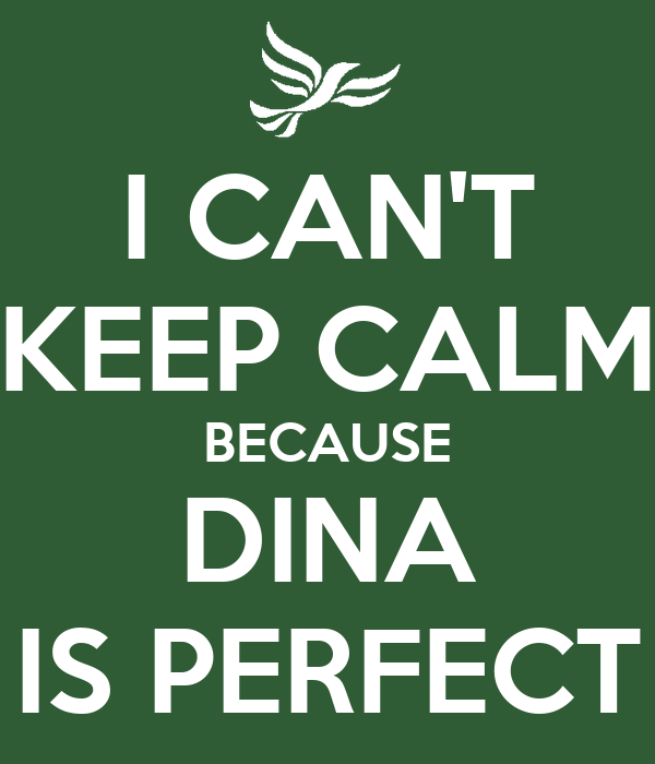 I CAN'T KEEP CALM BECAUSE DINA IS PERFECT