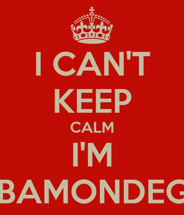 I CAN'T KEEP CALM I'M RIBAMONDEGO