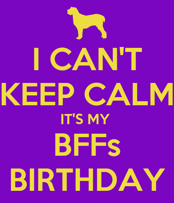 I CAN'T KEEP CALM IT'S MY  BFFs BIRTHDAY