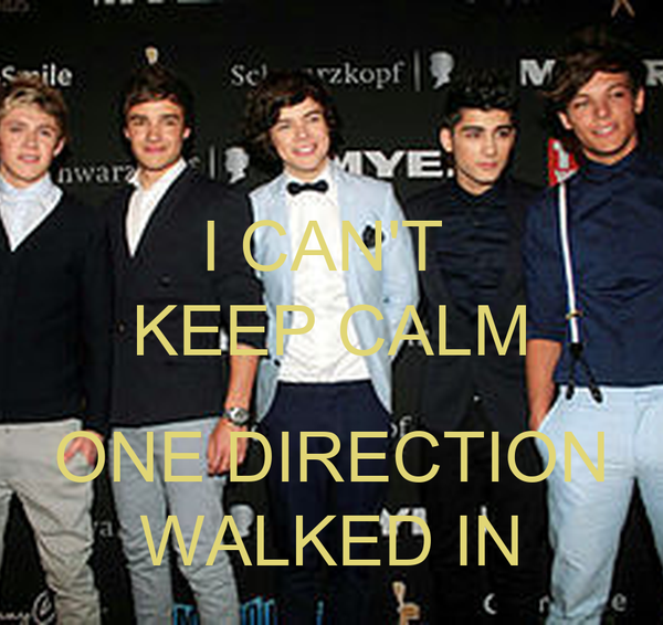 I CAN'T  KEEP CALM  ONE DIRECTION WALKED IN
