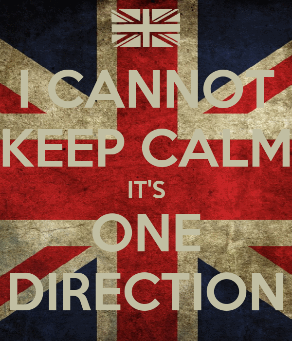 I CANNOT KEEP CALM IT'S ONE DIRECTION