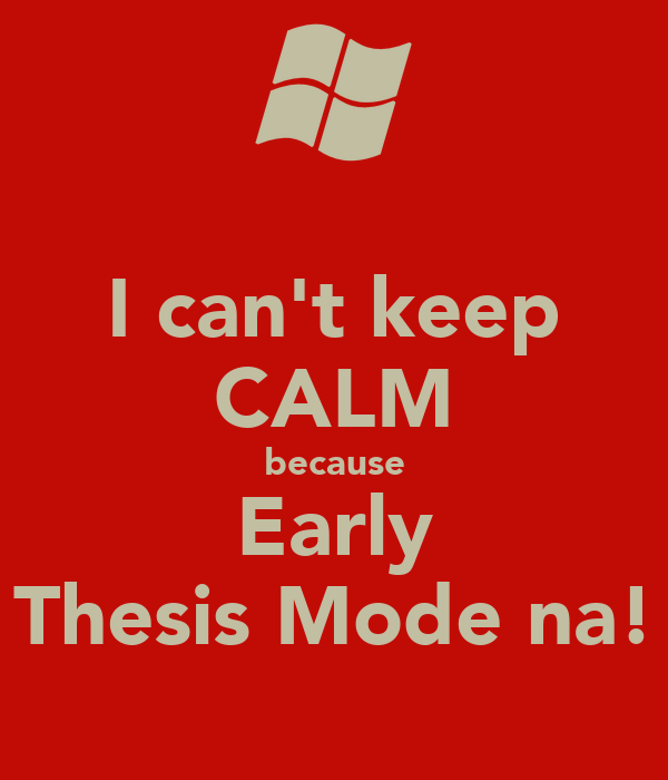 thesis mode