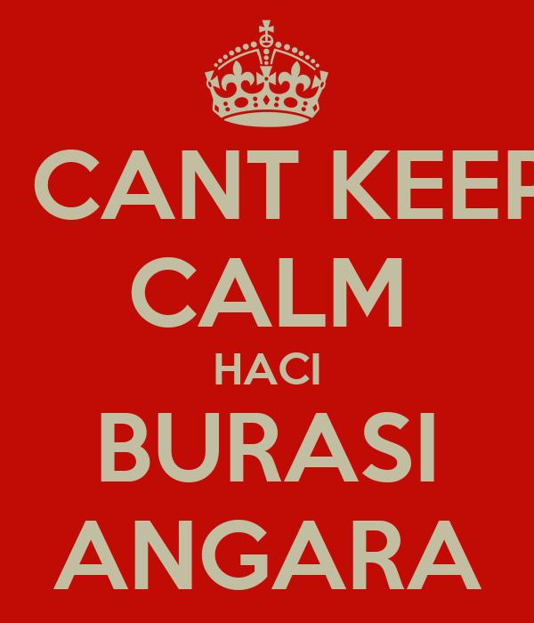 I CANT KEEP CALM HACI BURASI ANGARA
