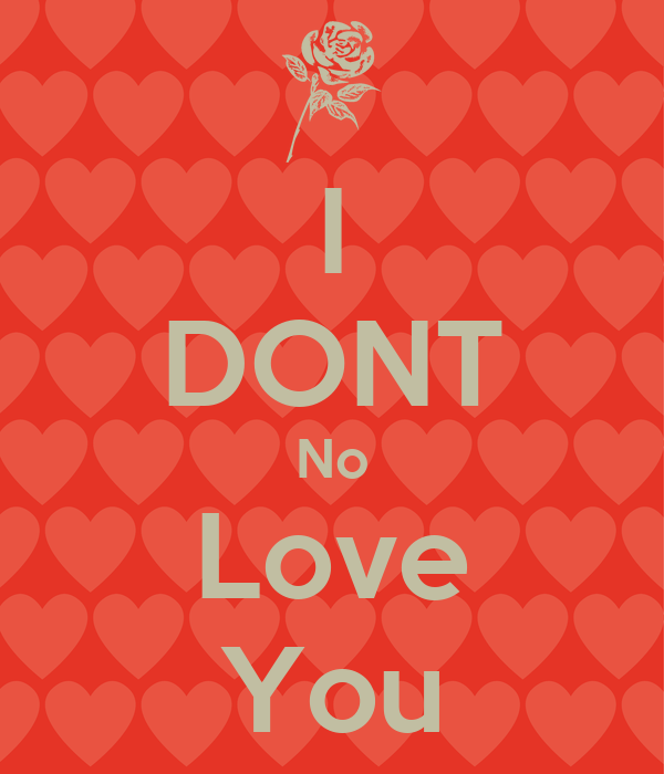 I DONT No Love You