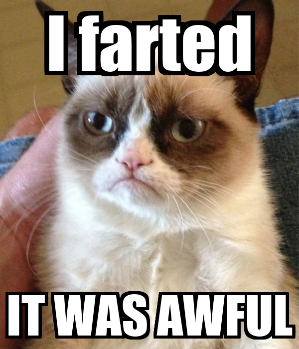 I farted IT WAS AWFUL