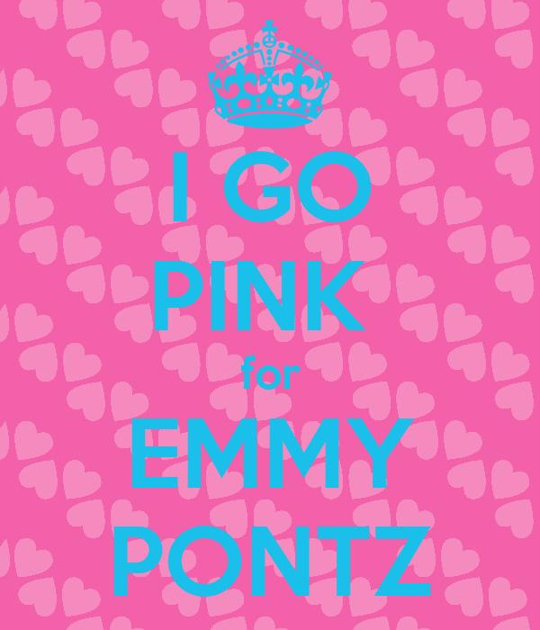 I GO PINK  for EMMY PONTZ