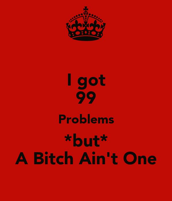 I got 99 Problems *but* A Bitch Ain't One