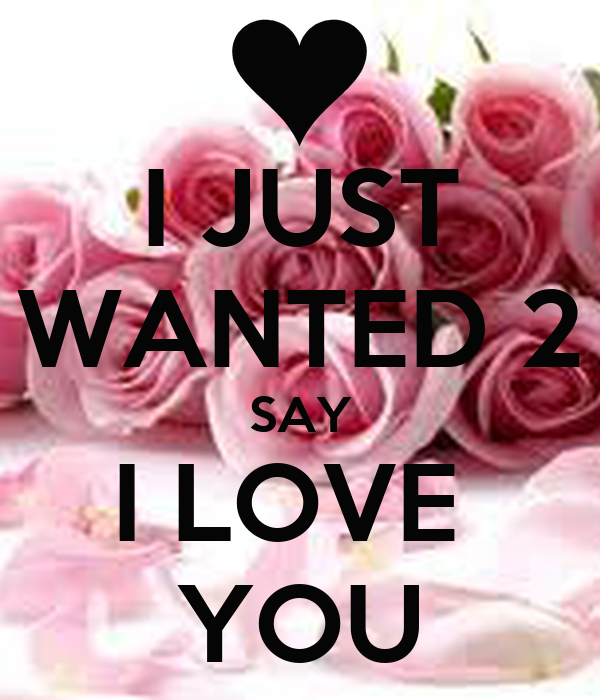 Just Wanted To Say I Love You Quotes Interesting I JUST WANTED 48 SAY I LOVE YOU Poster Yea Keep CalmoMatic