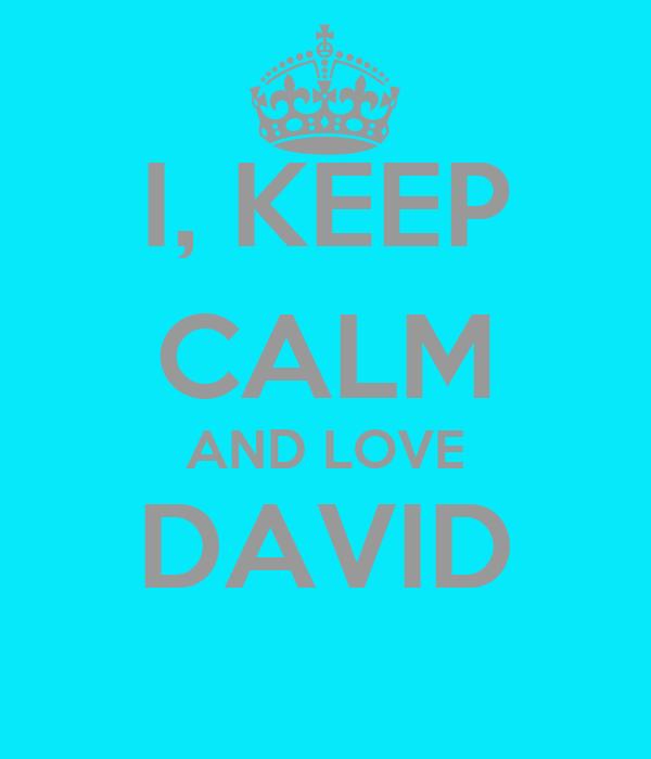 I, KEEP CALM AND LOVE DAVID