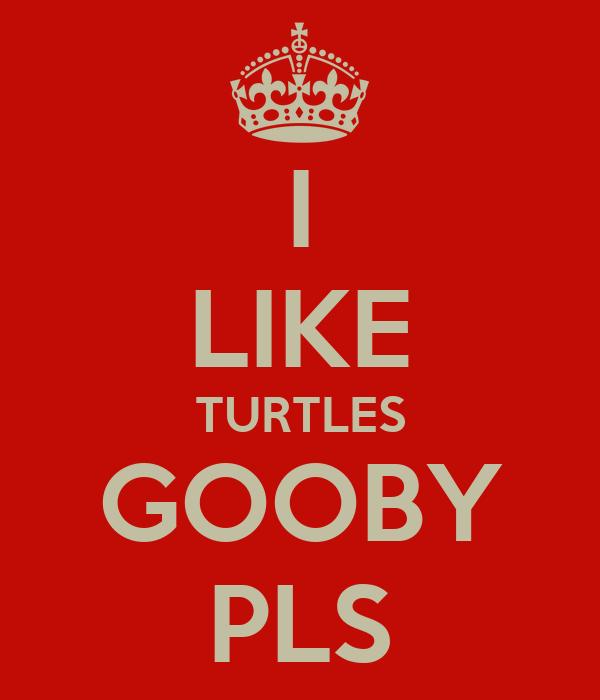 I LIKE TURTLES GOOBY PLS