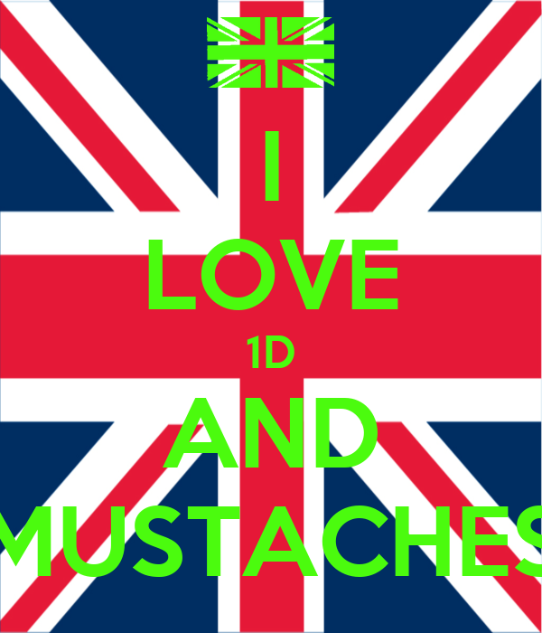 I LOVE 1D AND MUSTACHES