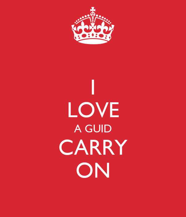 I LOVE A GUID CARRY ON