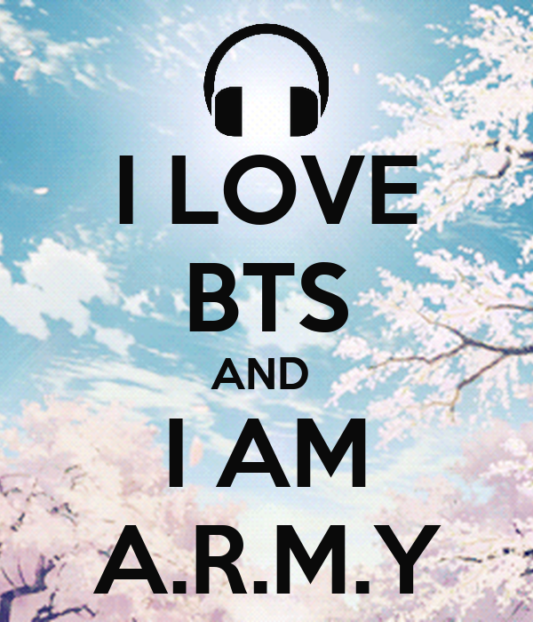 I LOVE BTS AND AM ARMY Poster Btstrash Keep Calm