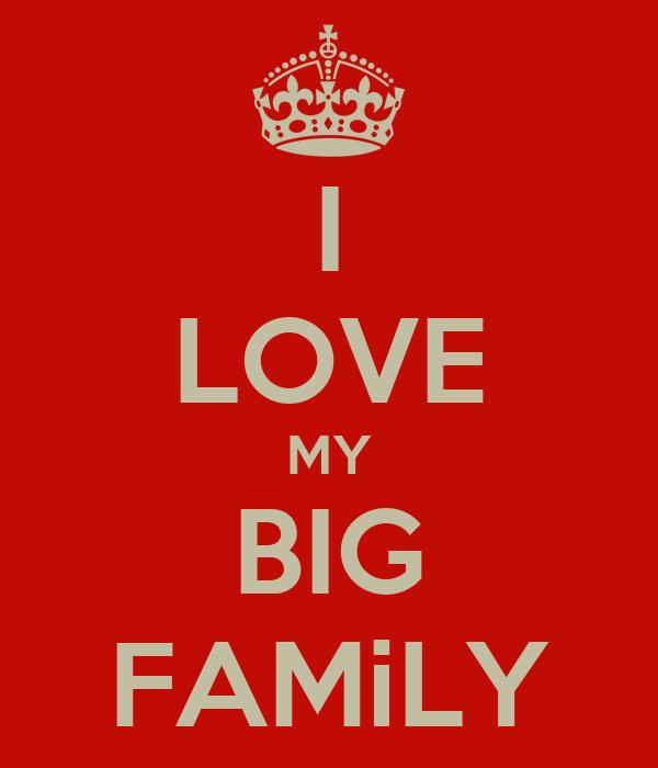 I LOVE MY BIG FAMiLY