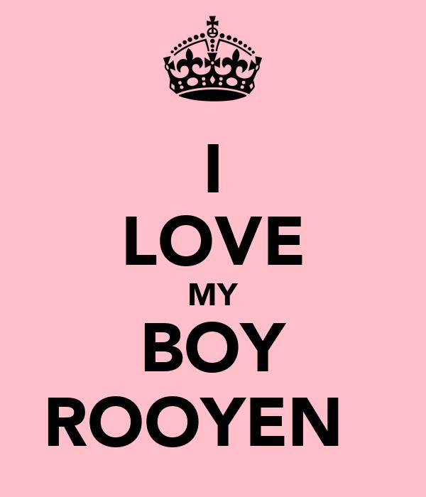 I LOVE MY BOY ROOYEN♡♥