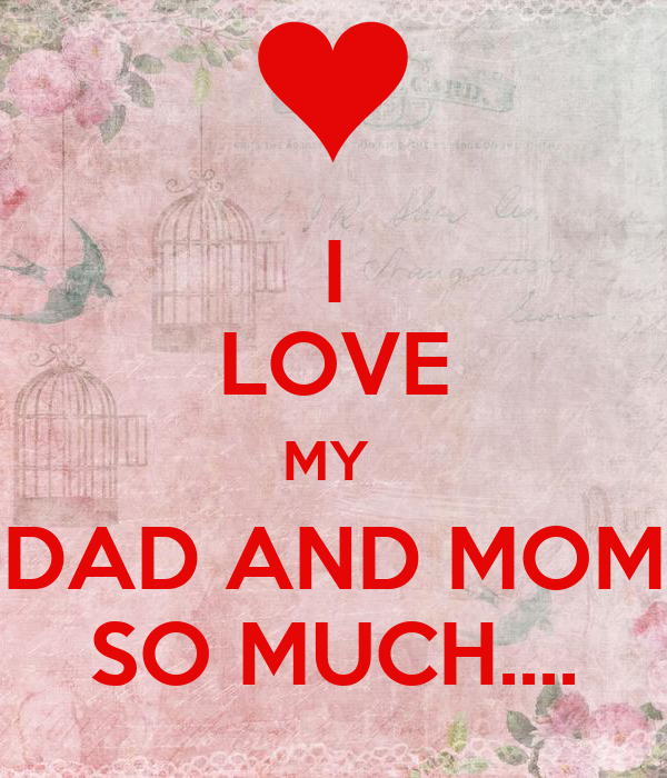 I love my dad and mom so much poster sharon keep calm o matic i love my dad and mom so much altavistaventures Choice Image