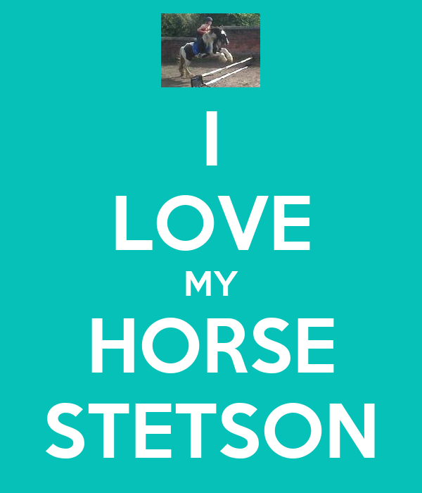 I LOVE MY HORSE STETSON