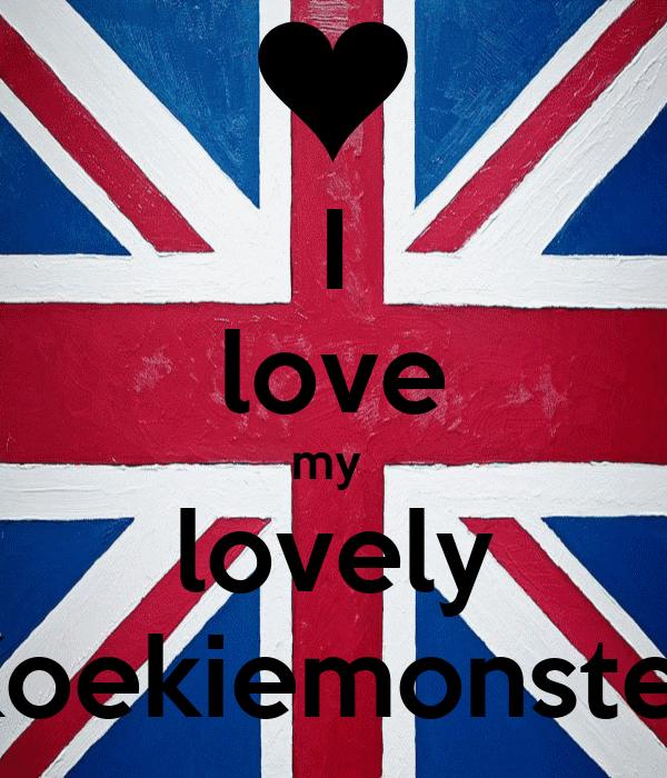 I love my  lovely Koekiemonster