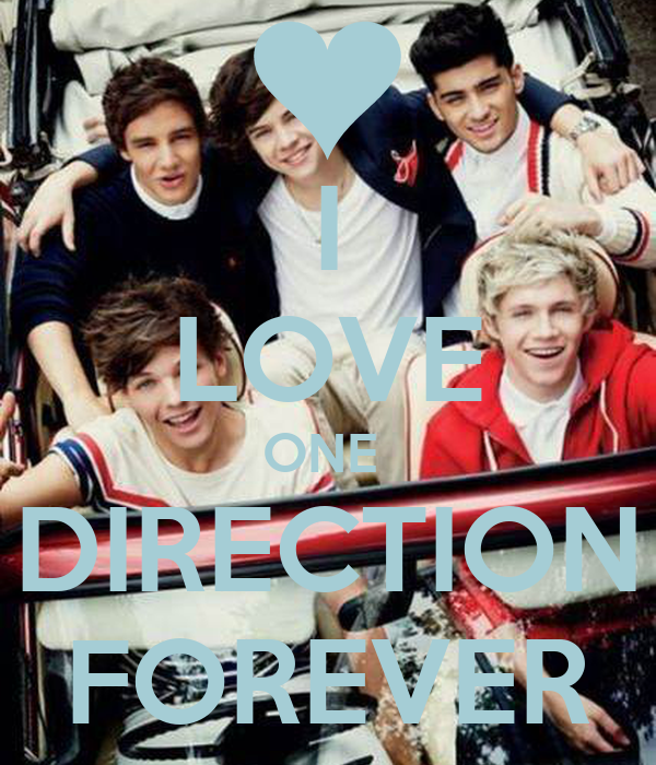 I LOVE ONE  DIRECTION FOREVER