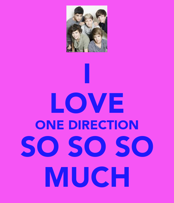 I LOVE ONE DIRECTION SO SO SO MUCH
