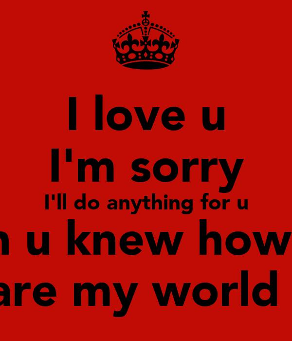 i wish u knew how much i love u