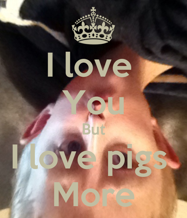 I love  You But I love pigs  More