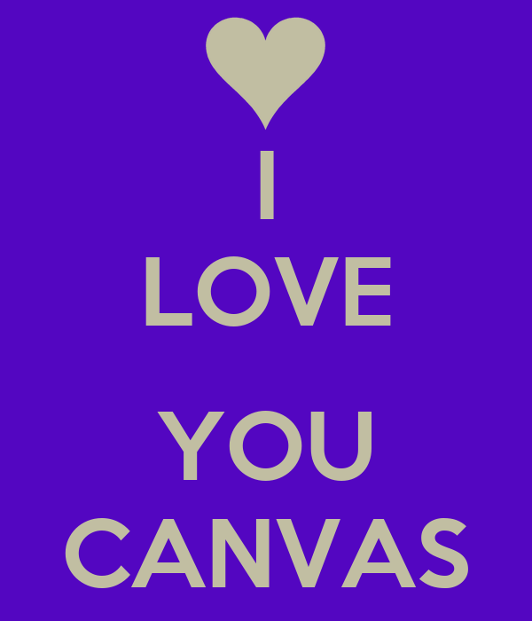 I LOVE  YOU CANVAS