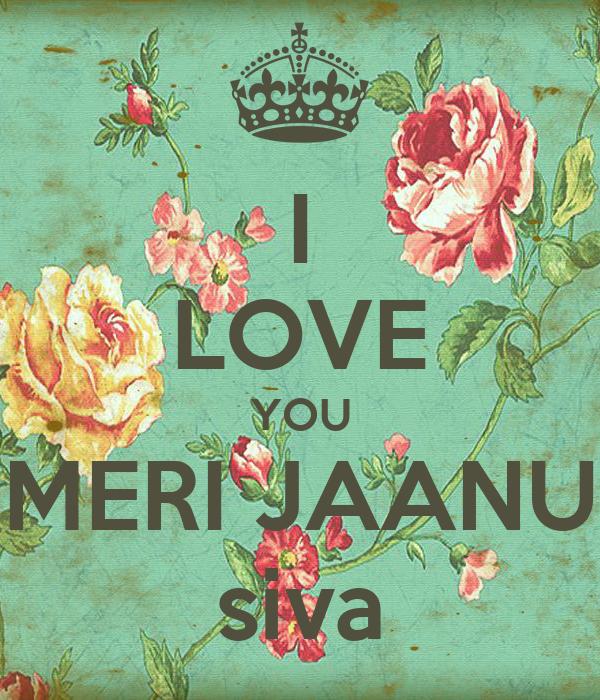 I LOVE YOU MERI JAANU siva