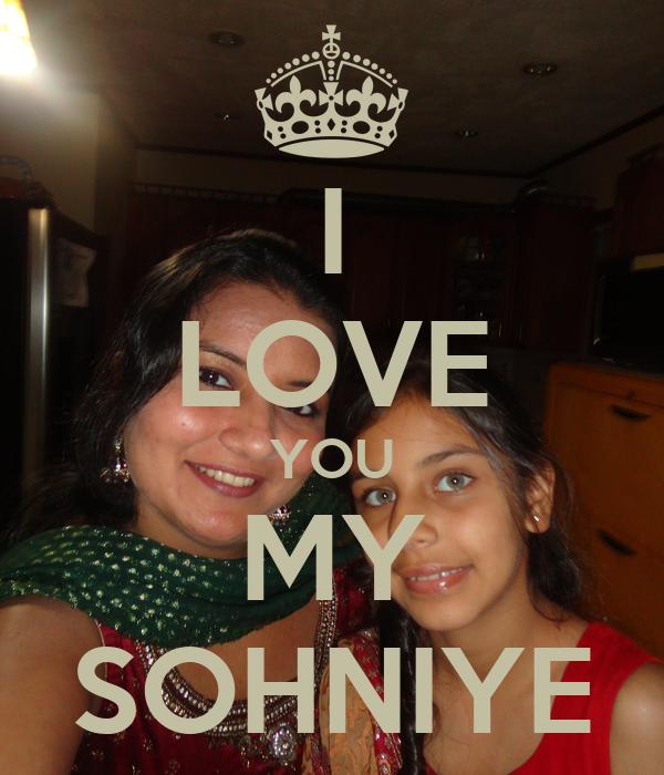 I LOVE YOU MY SOHNIYE
