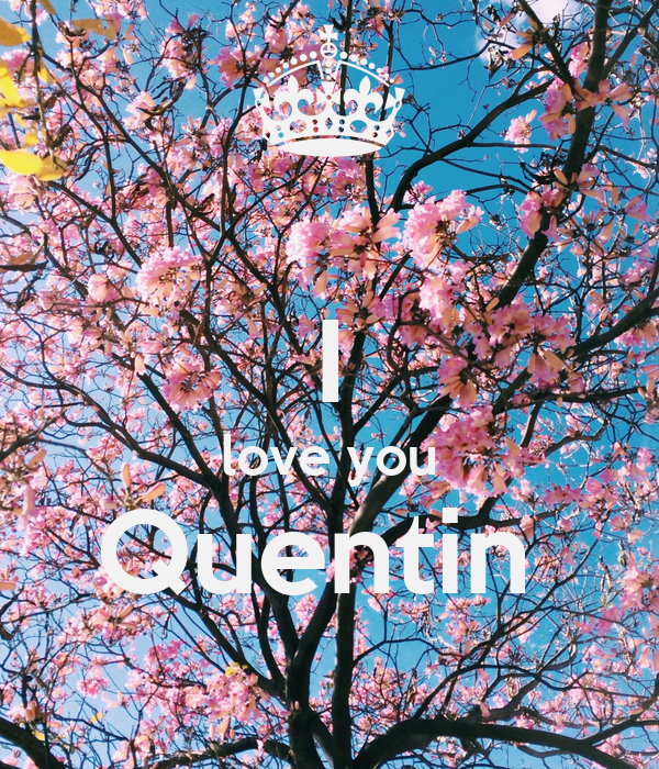 I love you Quentin