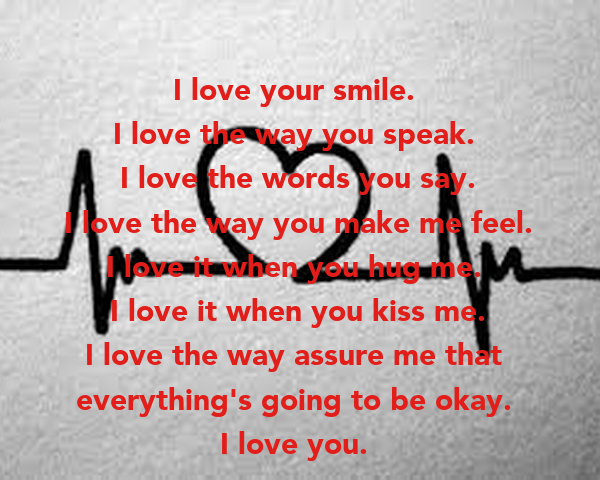 the way you say i love you