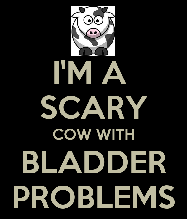 I'M A  SCARY COW WITH BLADDER PROBLEMS