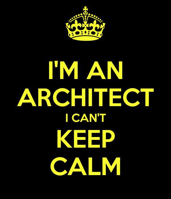 I'M AN ARCHITECT I CAN'T KEEP CALM